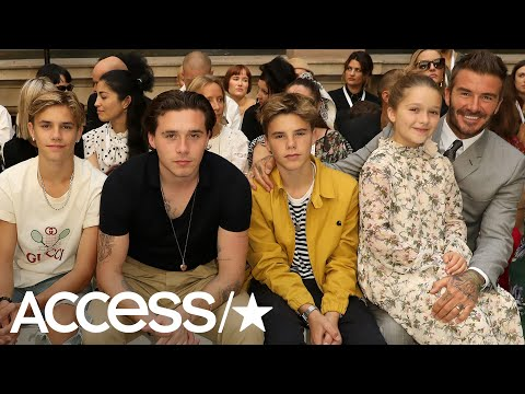 Victoria Beckham Feels The Love From David Beckham And All Four Kids At Her Fashion Show