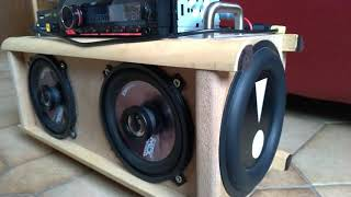 """DIY Portable Boombox With Pioneer Car Amp And 6.5"""" Passive Radiators"""