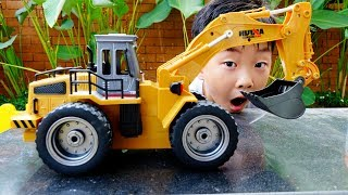 Constructions Car Toys Video for Kids Pretend Play Excavator Truck Vehicles for Children