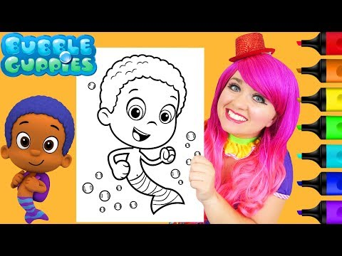 Download Coloring Oona Bubble Guppies Coloring Book Page