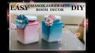 Mason Jar DIY | Easy Craft | Easy Craft Ideas | Easy Crafts For Kids | Easy DIY| Glass Bottle Crafts