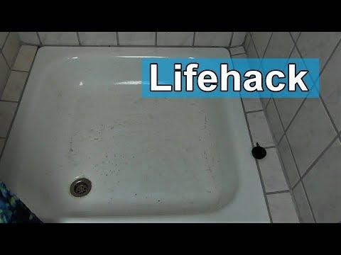 Alte vergilbte Badewanne reinigen -  Verdreckte verfärbte Duschwanne sauber machen - Tipps