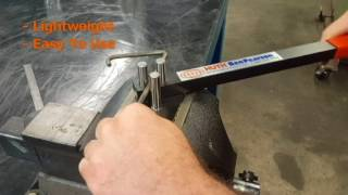 "EASY solution for bending up to 3/8"" Rod or up to 1/4"" x 1"" flat stock brackets: Manual Rod Bender"
