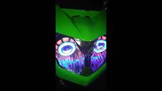 Ninja rr new reflektor shogun pasang lampu proji