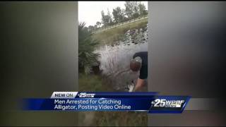 Men arrested for catching alligator, posting video online