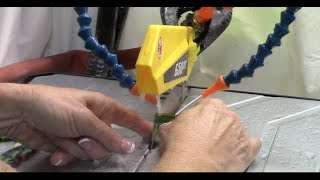 #61 Cutting Glass With A Wet Saw