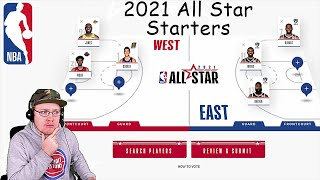 Official 2021 NBA All Star Starters Selection