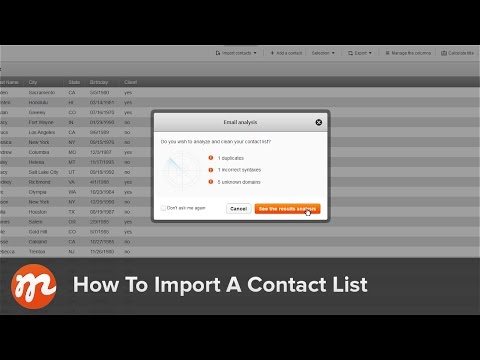 How to import my contact list
