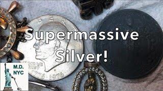 SUPERMASSIVE SILVER COIN Metal Detecting NYC #metaldetecting