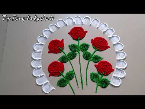 valentine day special rangoli design by aarti