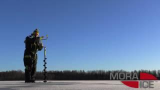 Ледобур MORA ICE Nova, цвет чёрный, 110 от компании Спорттовары Рыболов - видео