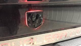 Dodge ram Illuminated emblem and red brake eyes