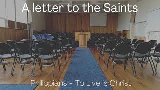 A letter to the Saints. Philippians 1:1