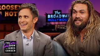 The Late Late Show w/ James Corden - Jason Momoa Has Gael Garcia Bernal & James Feeling Smaller (10.11.17)