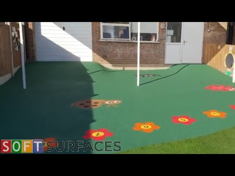 Download Wetpour Surfacing with Graphics Installation in Cheltenham, Gloucestershire | Wet Pour Play Area Mp4 HD Video and MP3