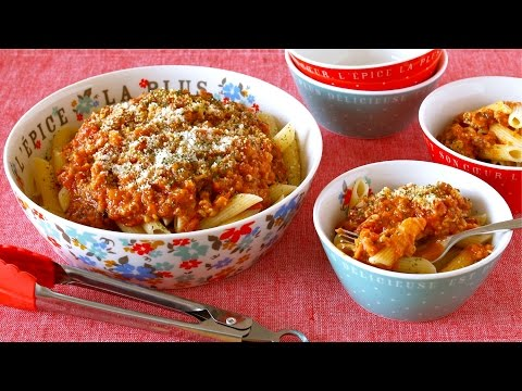 How to Make NO MEAT Vegetarian Bolognese Sauce (Vegetable Meat Sauce Recipe) ベジタリアンミートソースの作り方 (レシピ)