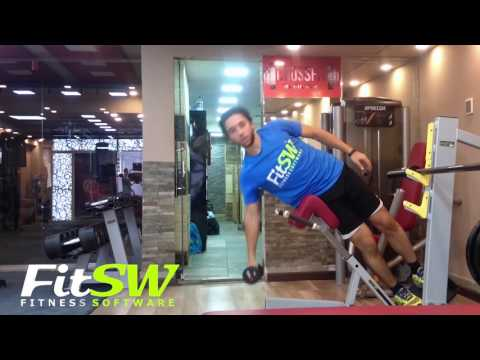 Dumbbell 45 Degree Side Bend: Exercise Demo How-to