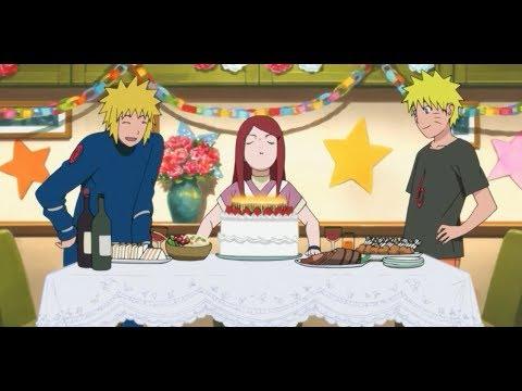 Naruto celebrating  birthday with  his parents (minato namikaze kushina uzumaki) For The first time.