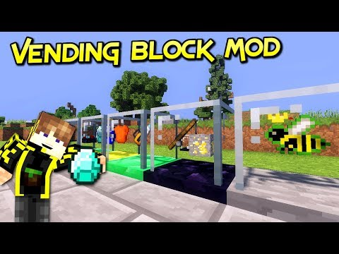 Vending block mod | Vende Tus Diamantes Con Estilo  | Minecraft 1.12.2 – 1.7.10 | Review Español