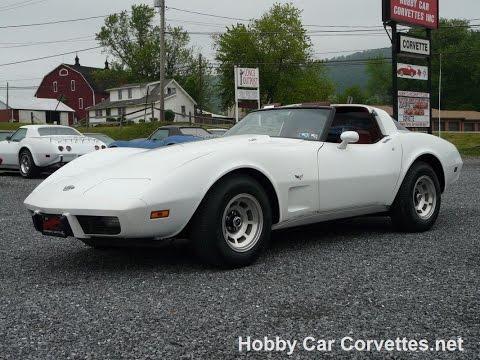 1978 White L82 Corvette Rare Cinnabar Int Video