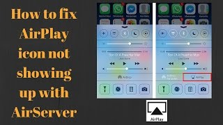 How to enable AirPlay on iPhone/iPad | fix AirPlay icon not showing up with AirServer