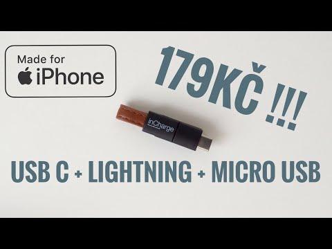 TOHLE POTŘEBUJE KAŽDÝ! univerzální all in 1 kabel 👉 USB C + Apple lightning pro iPhone + micro USB