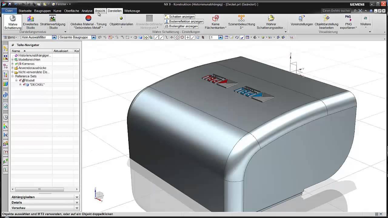 Vorschaubild: NX: Synchrone Konstruktion mit NX CAD