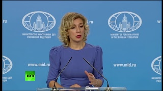 Мария Захарова проводит еженедельный брифинг (26 октября 2017)
