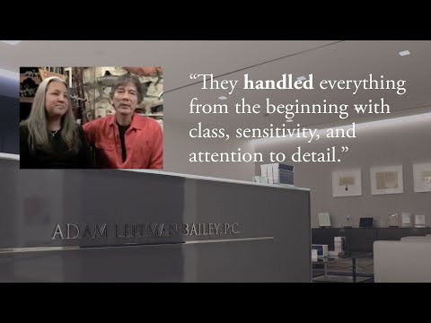 """""""They handled everything from the beginning with class, sensitivity, and attention to detail."""" testimonial video thumbnail"""