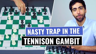 Tennison Gambit | Nasty Opening Trap For White | Chess Opening Tricks And Traps To Win Fast