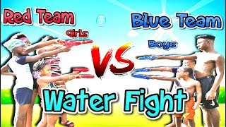 Epic Water Gun🔫 Fight With SwaggBoi & Family
