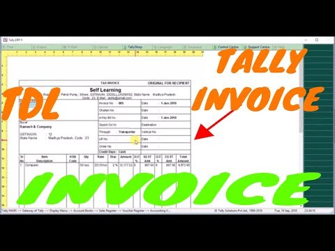 Customize - design anything yourself in tally invoice