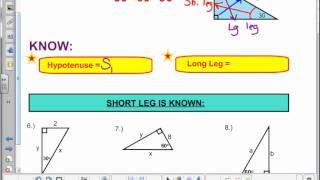 7 4 Special Right Triangles Notes Video