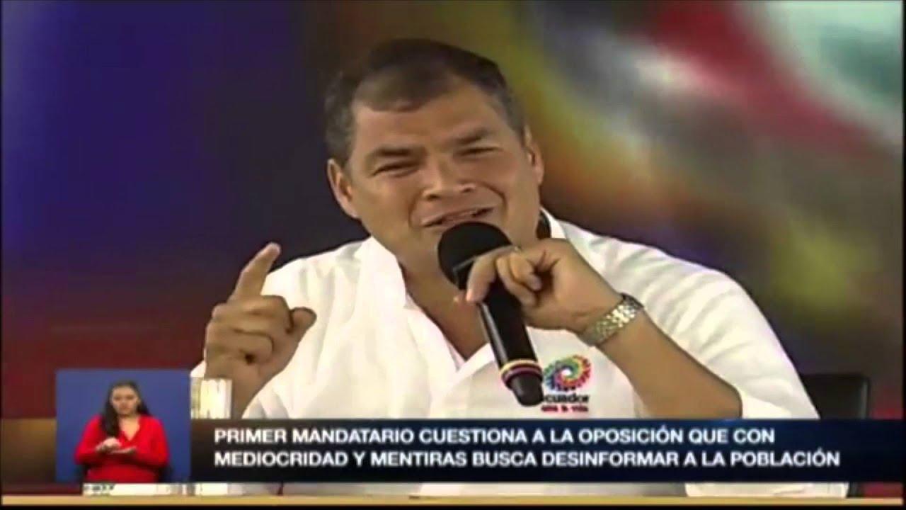 """Rafael Correa arremete contra HispanoPost y le llama """"prensa corrupta"""""""