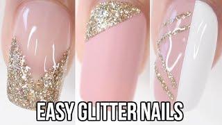 5 EASY Glitter Nail Ideas | Part 3-Gold Glitter