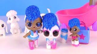 Куклы Лол Мультик! Банный День Семейки Лол и Новых Питомцев! Lol Surprise Baby Doll