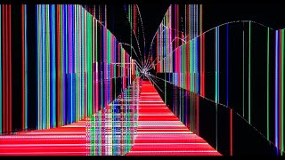 Broken TV Screen cracked effect REAL motion & electric shorts
