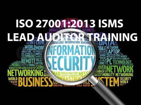 iso 27001 lead auditor course IRCA approved ... - YouTube