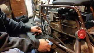 Old School Mini Bike Brake Band Installation and Review