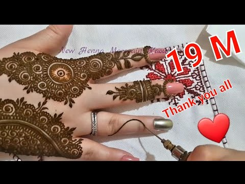 moroccan mehndi design for hands by marocain kaouter