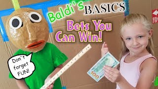 Bets You Can Always Win vs Substitute Teacher Baldi's Basics in Real Life!!! Box Fort School