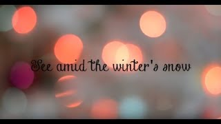 SEE AMID THE WINTER'S SNOW lyric video