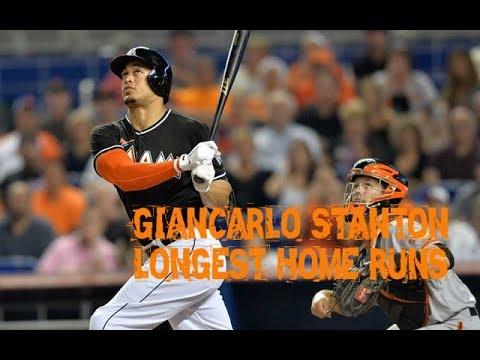 MLB: Giancarlo Stanton Longest Home Runs
