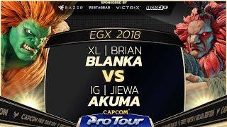 XL | Brian (Blanka) vs IG | Jiewa (Akuma) - EGX 2018 - Top 8 Losers- CPT 2018