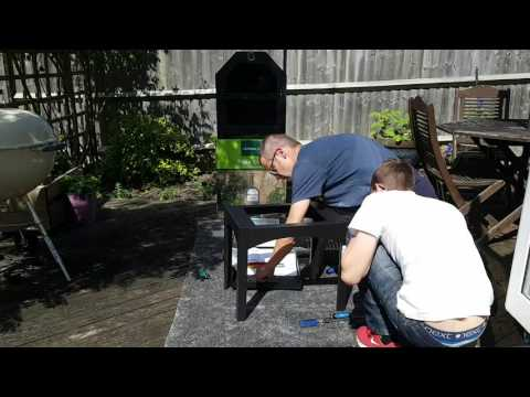Building the Aldi pizza oven