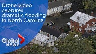 Hurricane Florence: Drone video captures devastating flooding across North Carolina