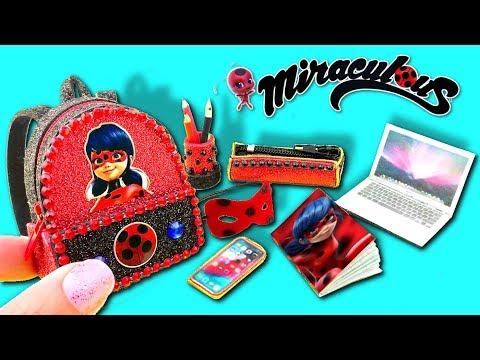🐞 MINI ÚTILES ESCOLARES de Miraculous Ladybug ¡¡BACK TO SCHOOL!! mochila, libreta, estuche    🐞