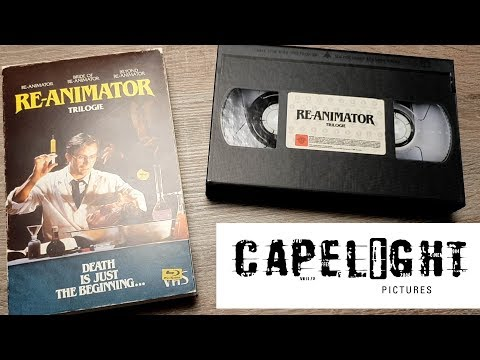 RE-ANIMATOR TRILOGIE Blu-Ray VHS Edition Capelight Unboxing Herbert West