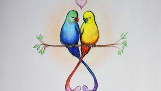 Уроки рисования. Рисуем влюбленных птиц. День святого Валентина | Art School