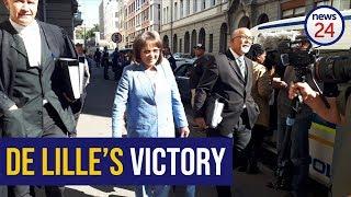 WATCH: De Lille, DA react to court judgment